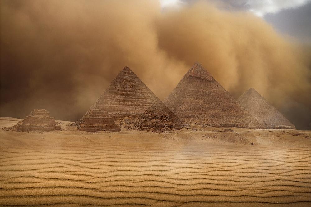 beige pyramid