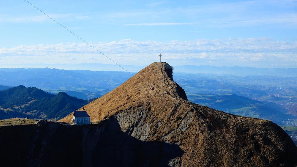 rocky mountain under blue sky
