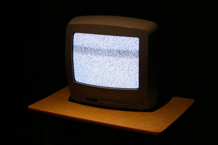 CRT TV turned on