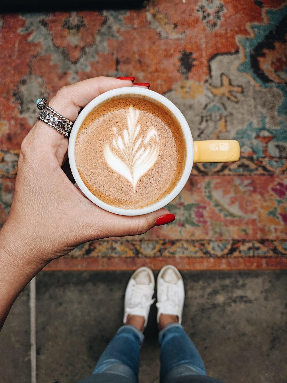 cappuccino on mug