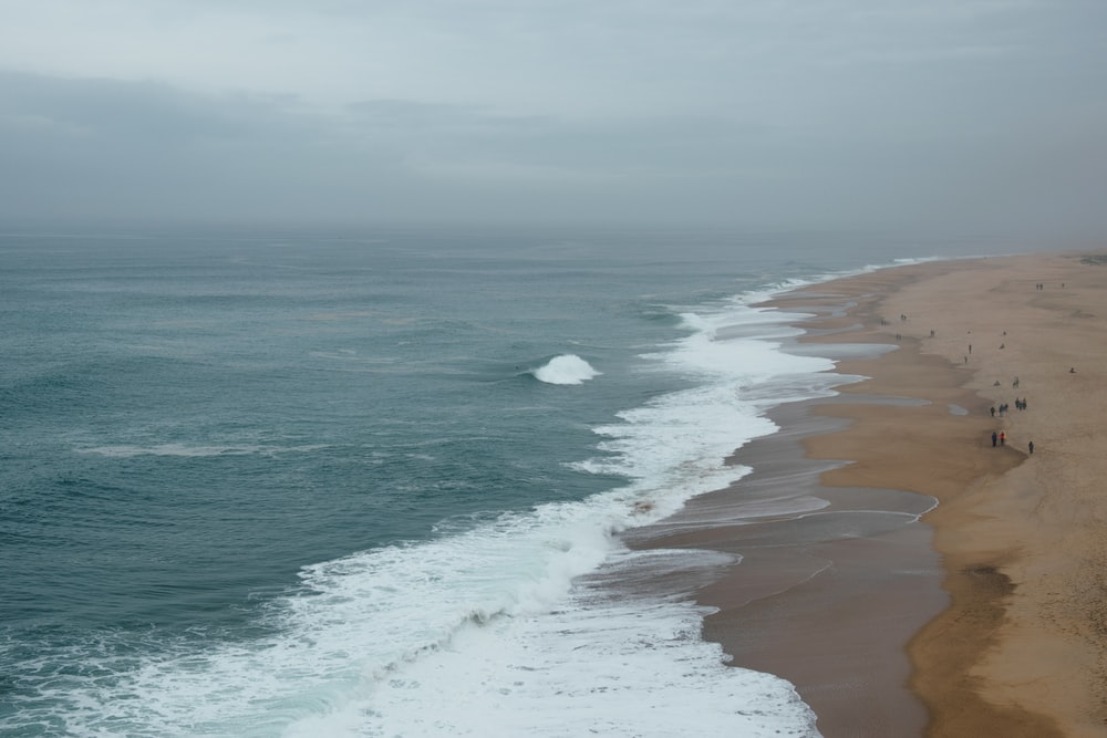 seashore view under gray skies