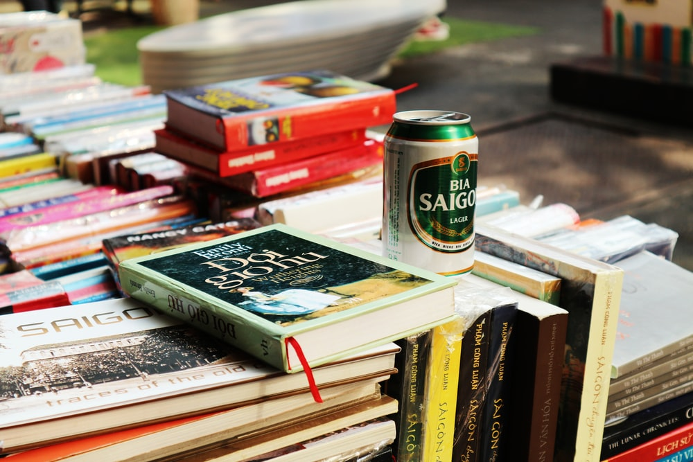 book beside can