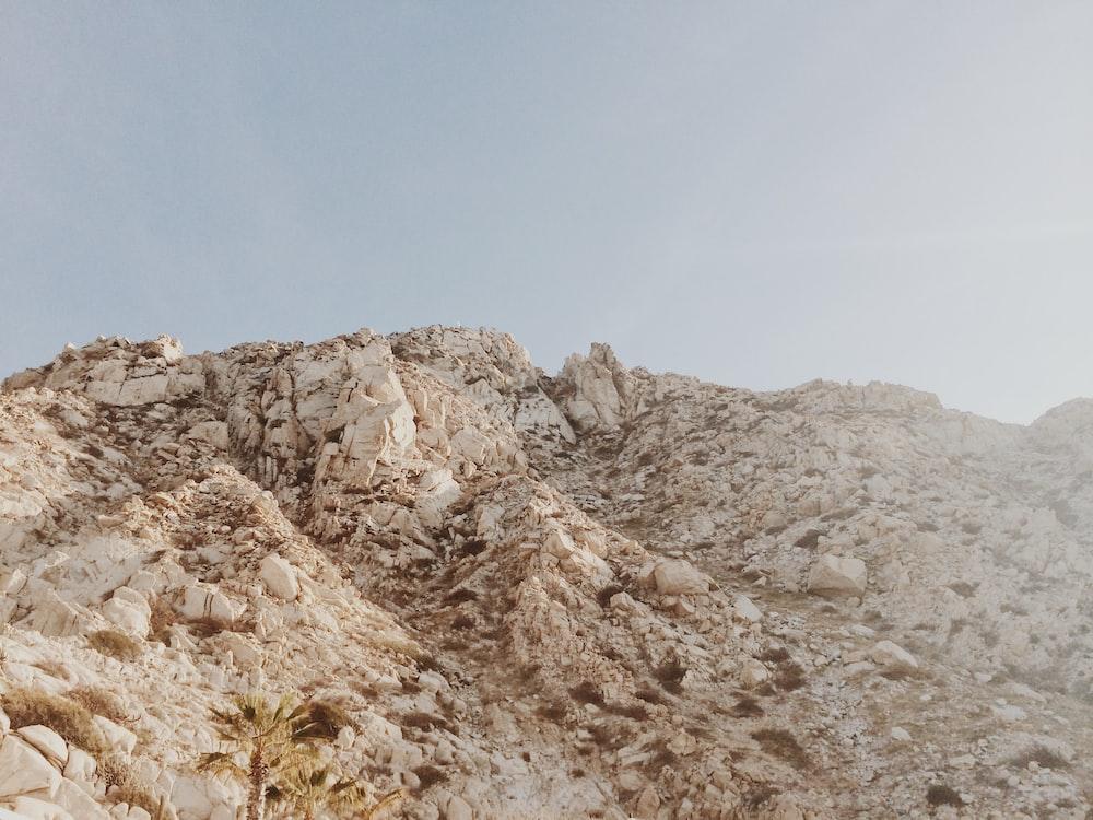 white rocky mountain
