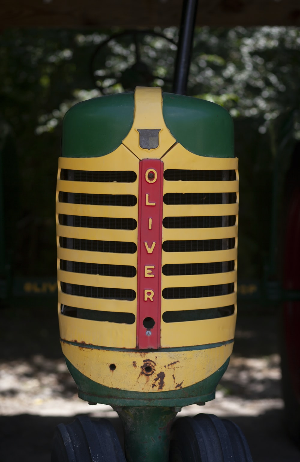 yellow and green space heater
