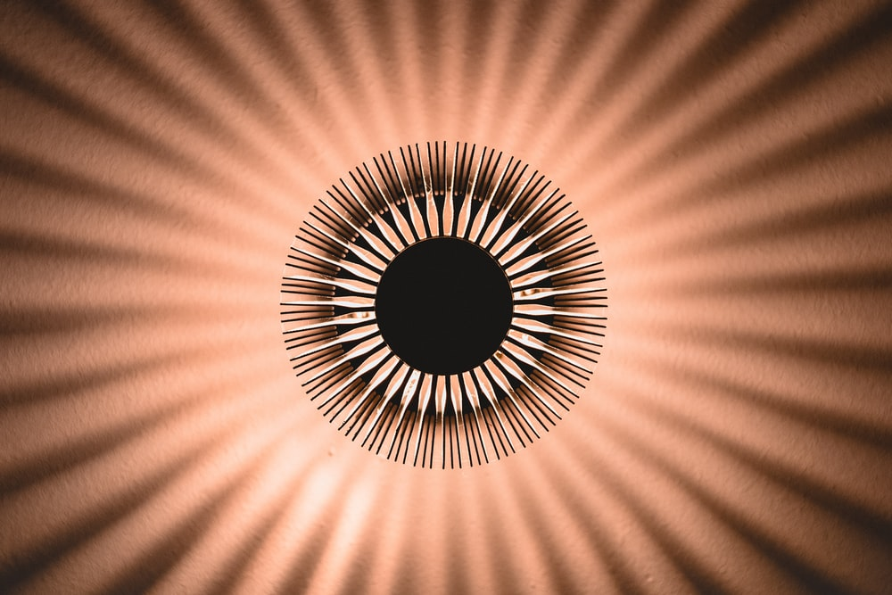 round brown abstract art