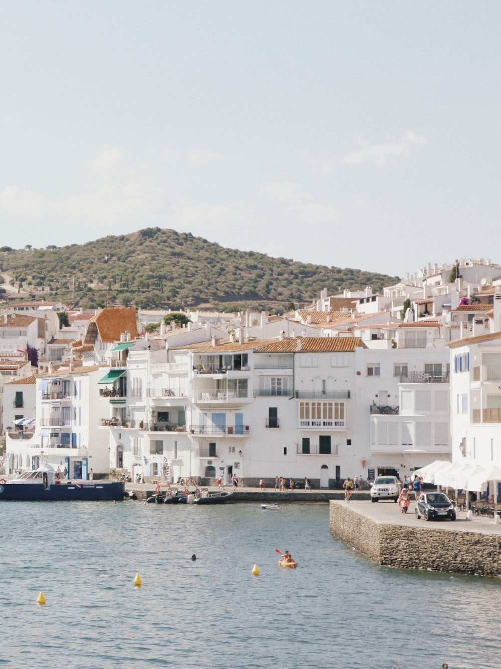 white and brown buildings in beach