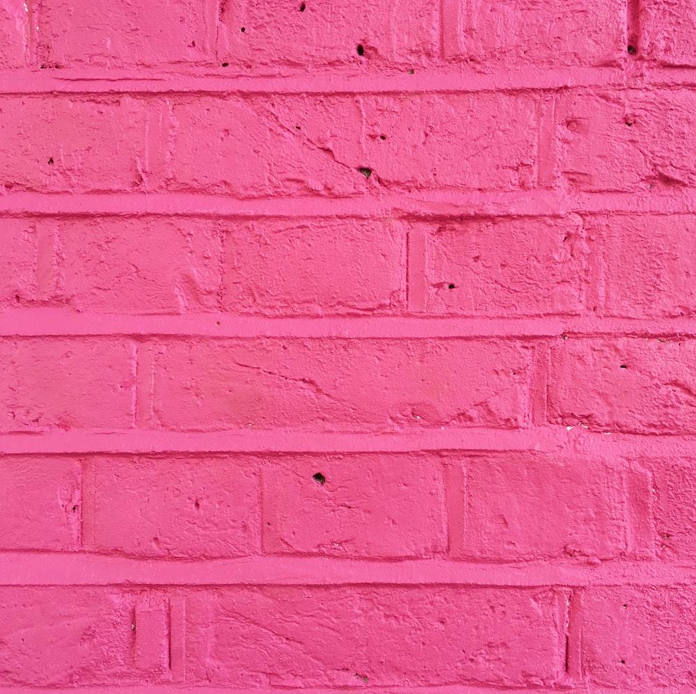 pink concrete brick wall