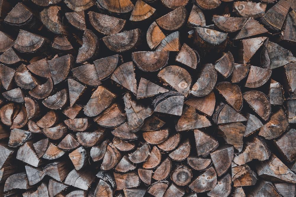 pil of cut wood