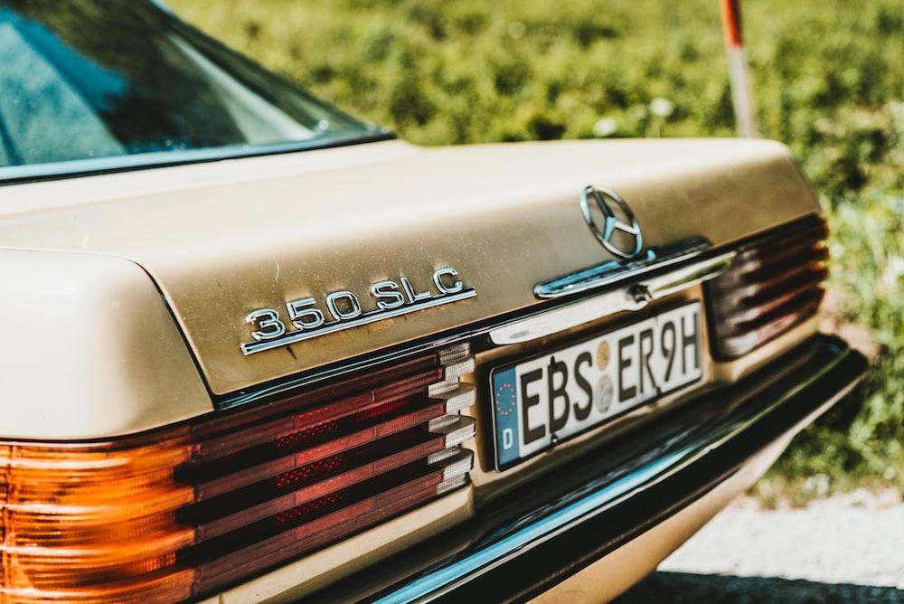 brown classic Mercedes-Benz 350 SL C car