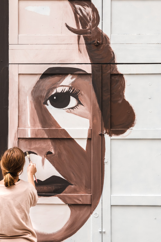 human face wall art