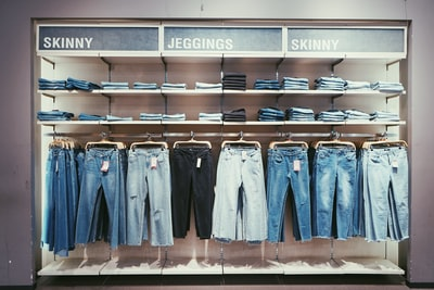hanged jeans lot clothing zoom background