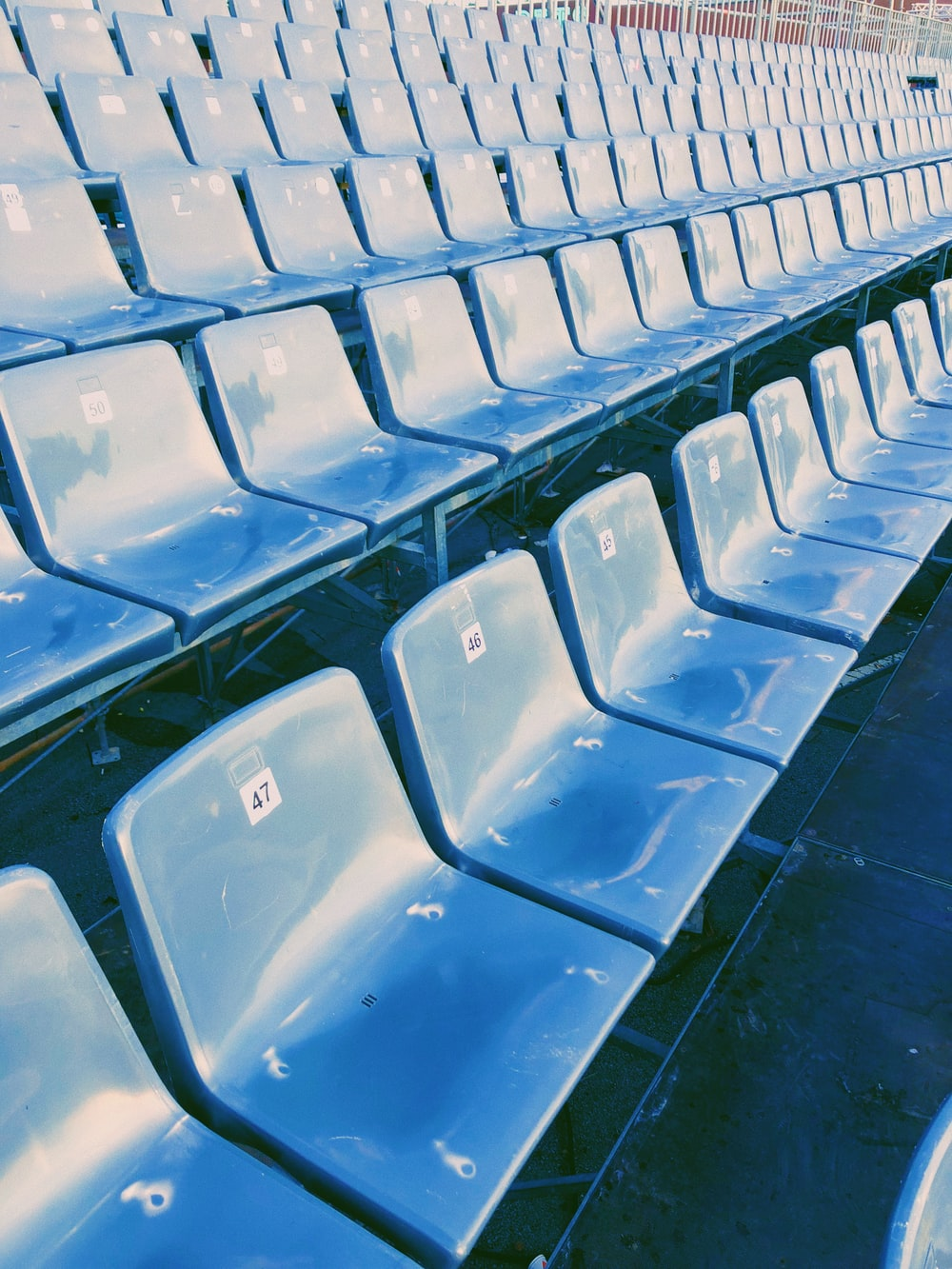 empty gang chairs