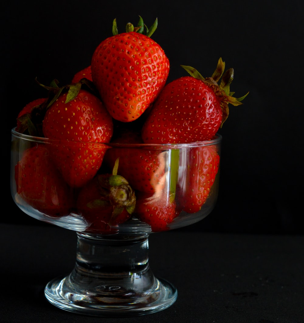 strawberries on bowl