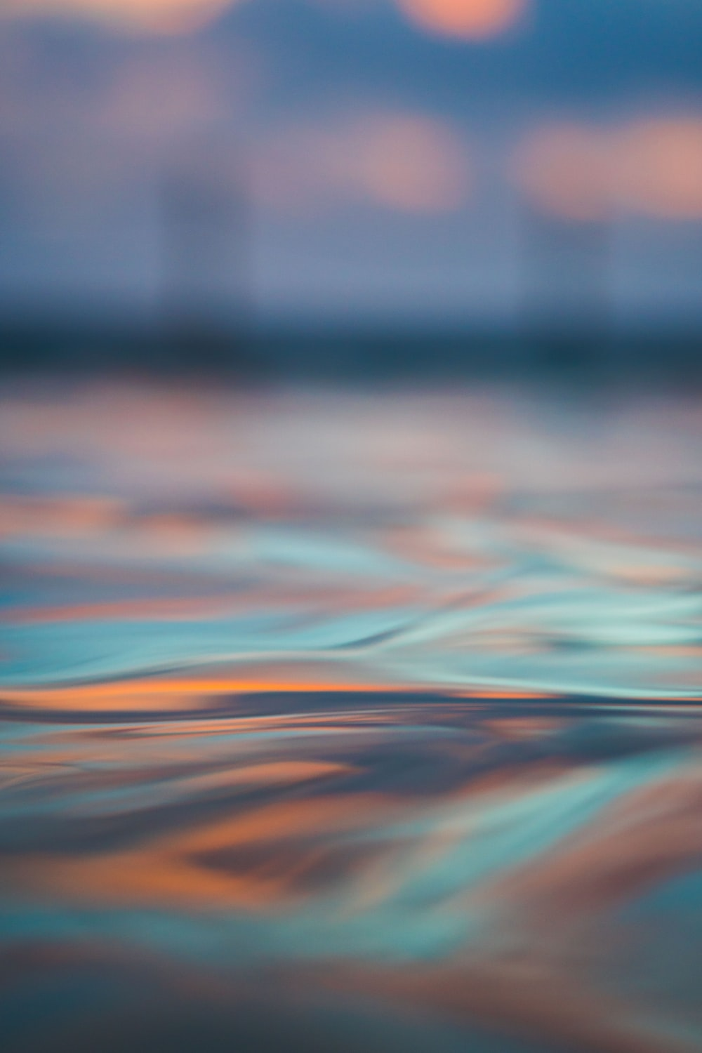 long exposure photography of body of water
