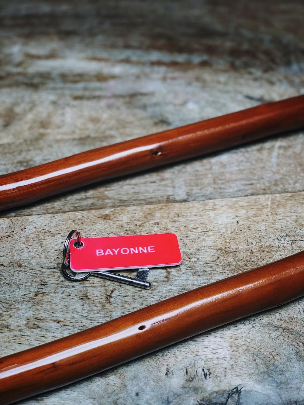 two brown sticks
