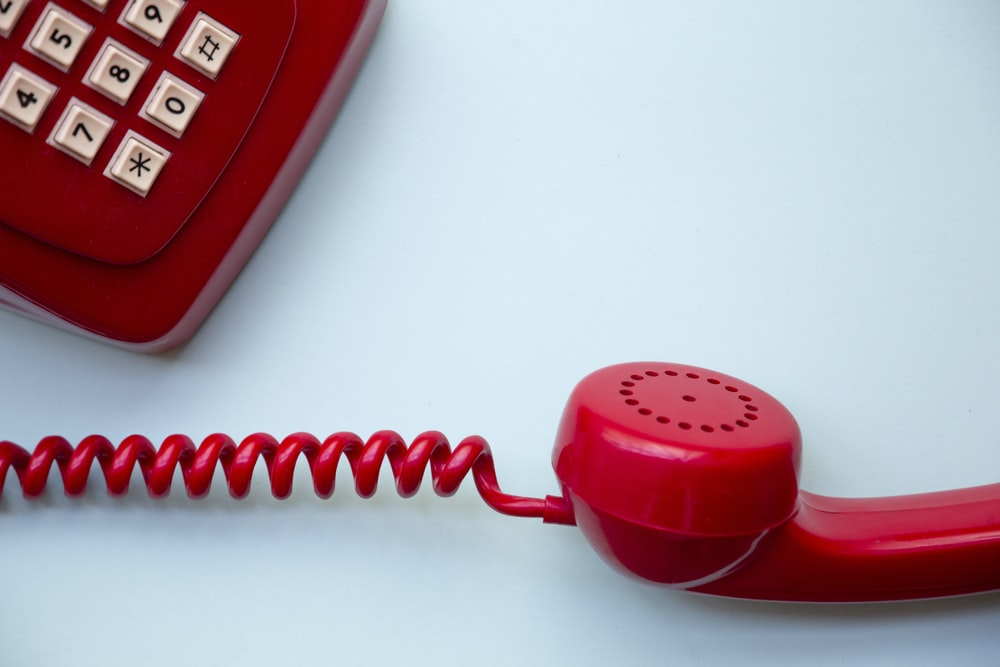 red corded home phone