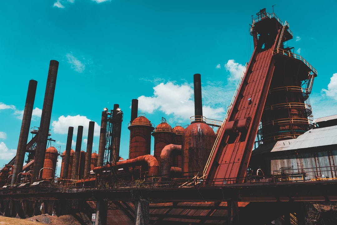 An outside view of the Sloss Furnaces in Birmingham, Alabama. July 2018. Awesome place to visit!