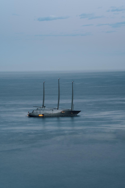 gray ship on ocean during daytime