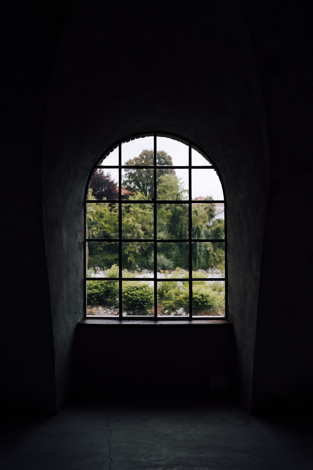 closed clear window