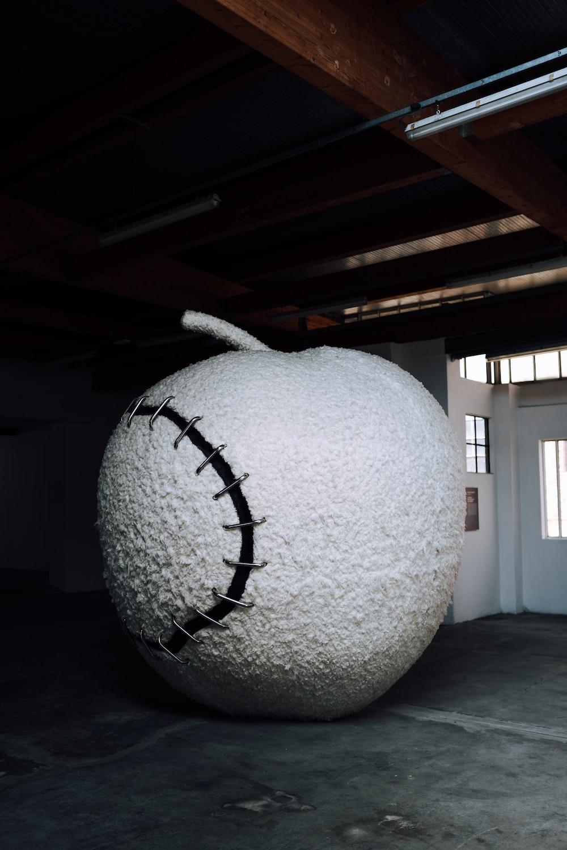 white apple statue