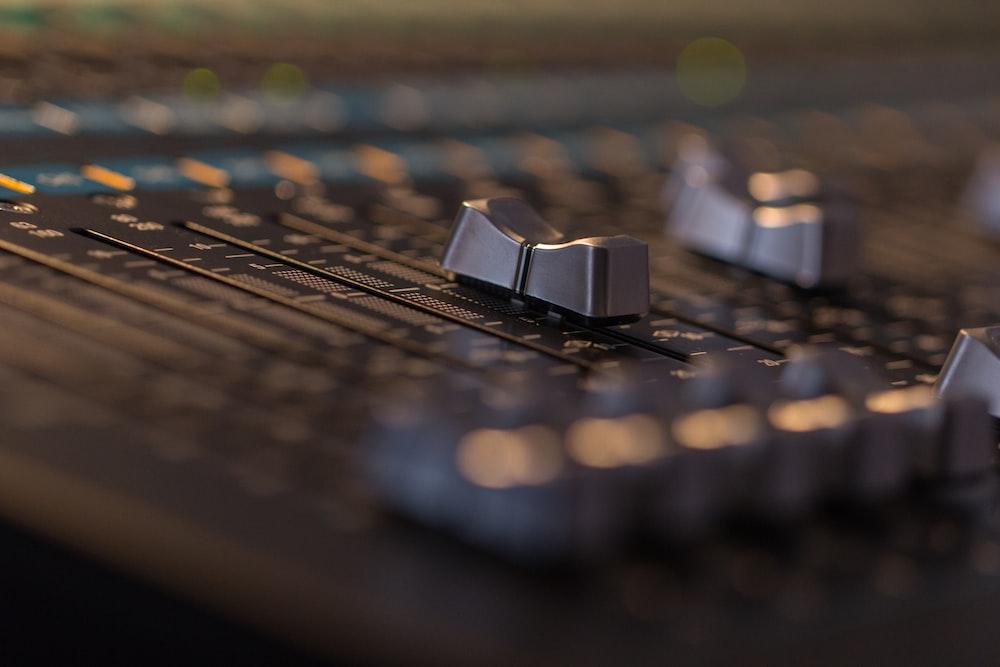 black audio mixer controller