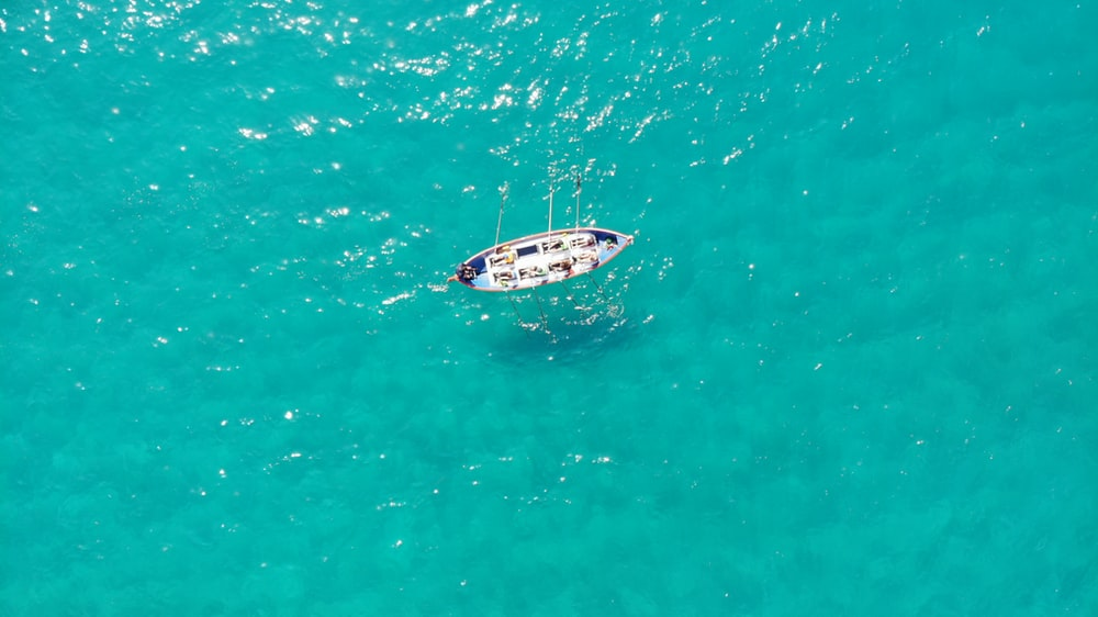 aerial photography of sailing boat