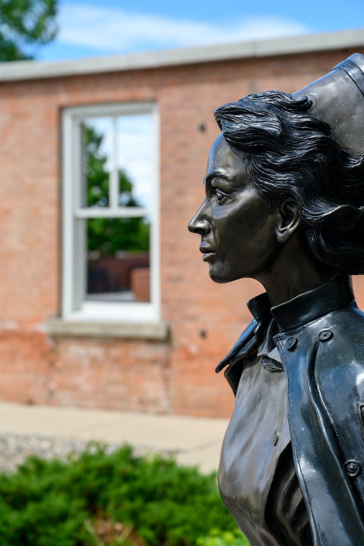 gray nurse statue