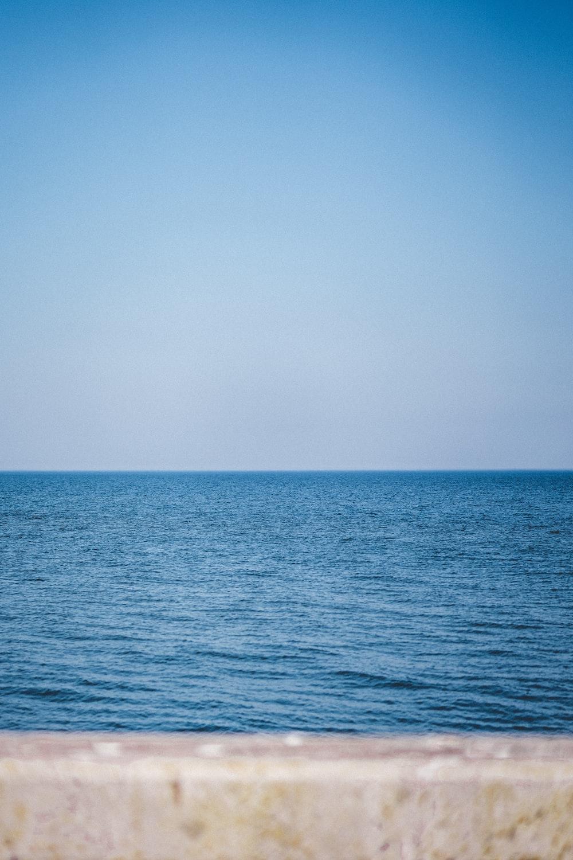 ocean under blue sky