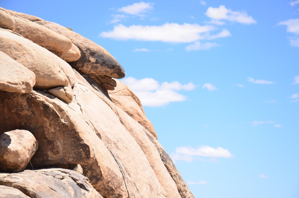 rockys under blue sky