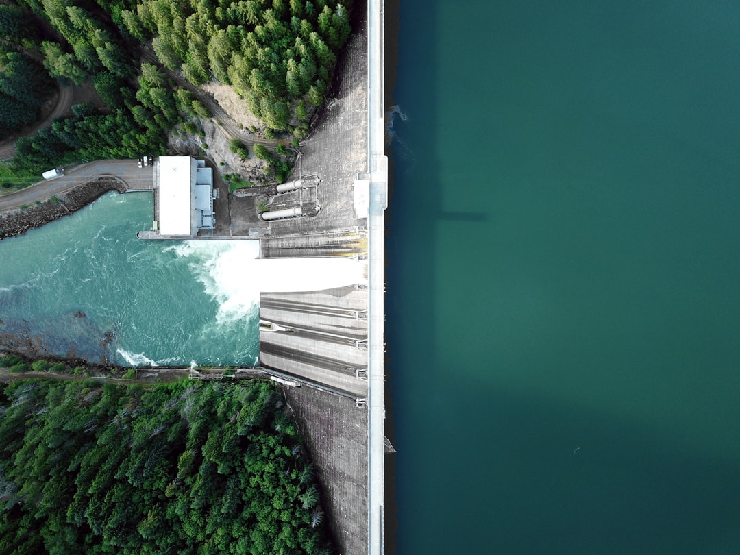 This is probably my favorite of my drone photos. Here's the process: Step 1: Bring a drone. Step 2: Throw on a CPL filter. Step 3: Make sure no one is looking.  If you need a stock photo of a dam, here's one taken with my drone over the Detroit Dam in Oregon. Or if you just like cool aerial photos, it works for that as well. This gravity dam is about 450 feet high.