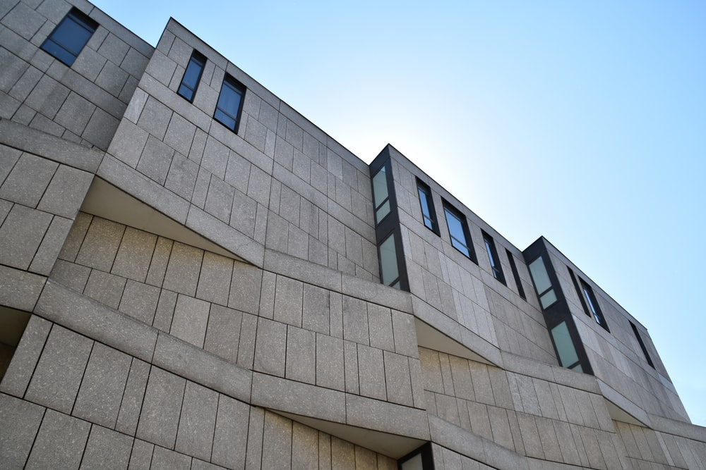 low-angle photography of buildings