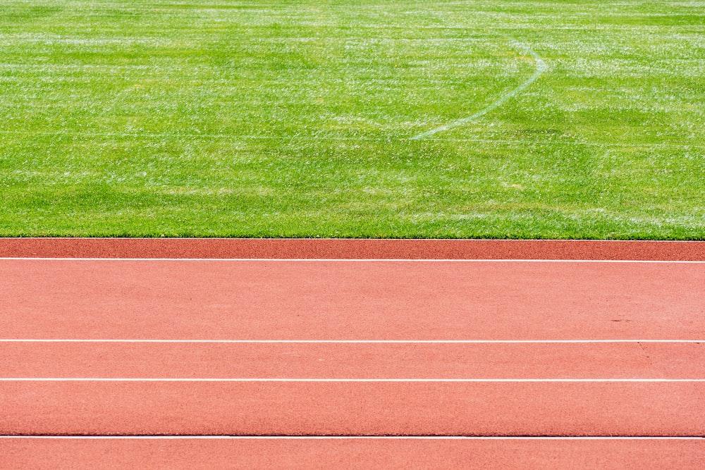 empty track field