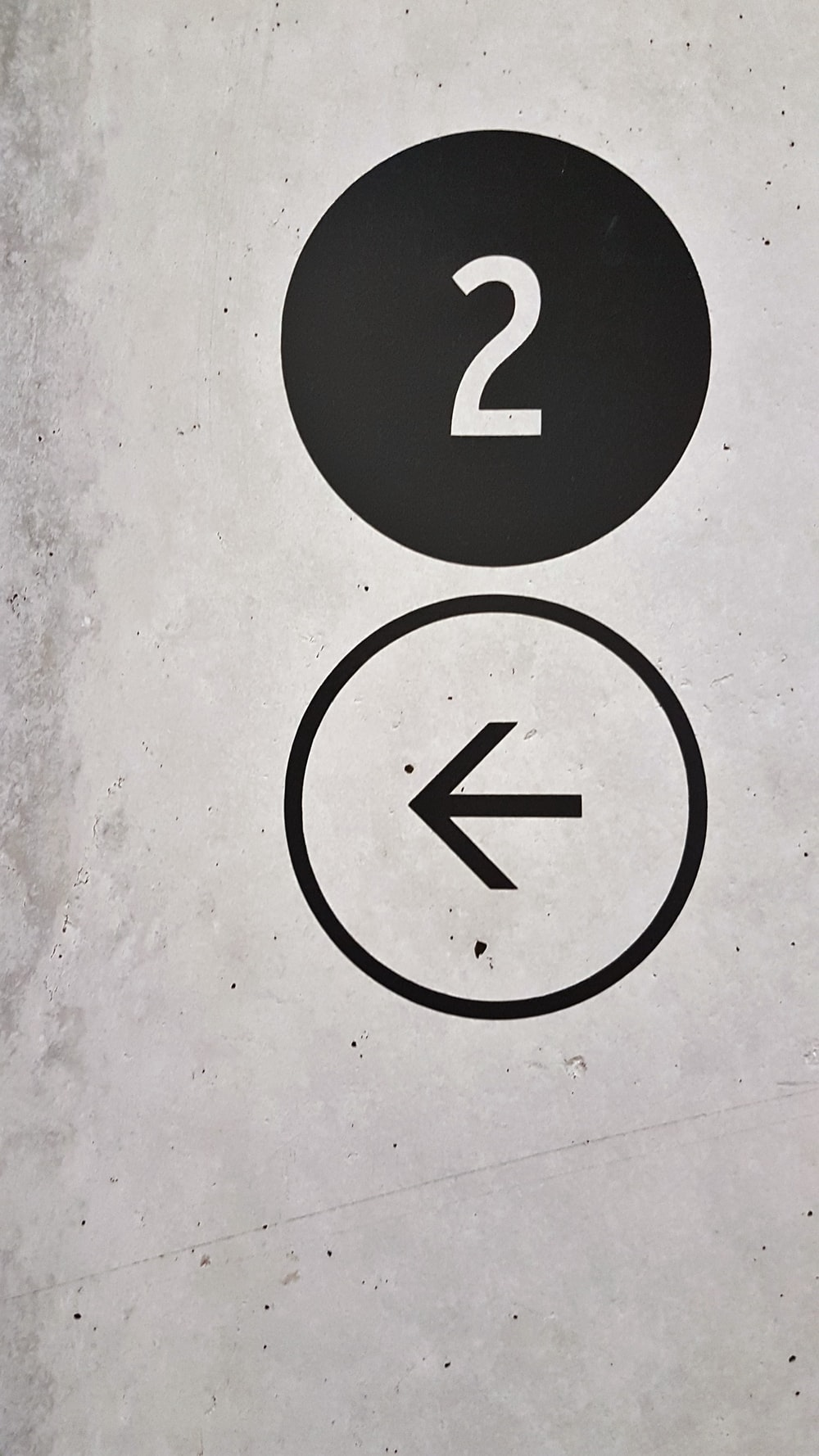 elevator indicator at 2