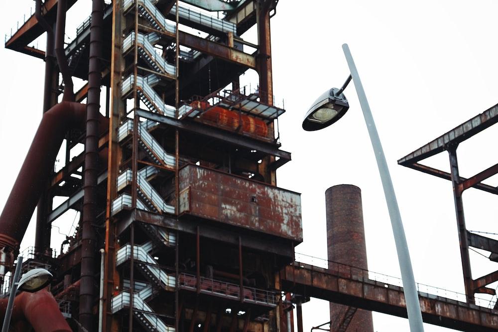 brown steel building