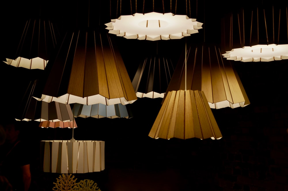 lighted brown pendant lamps