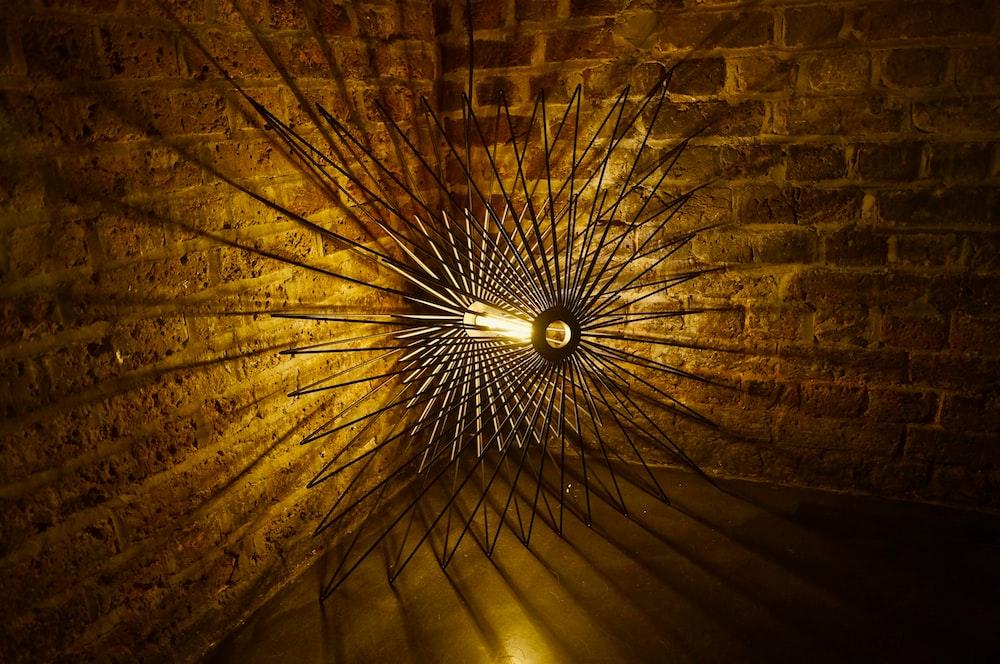 grey metal and amber bulb ceiling lamp