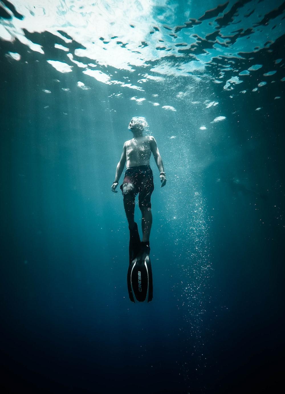 man under the water