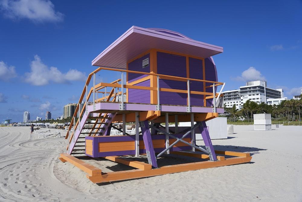 orange watchtower