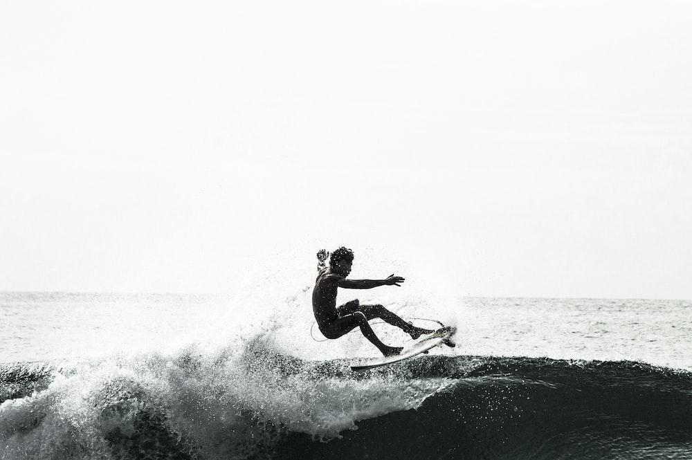 unknown person surfing