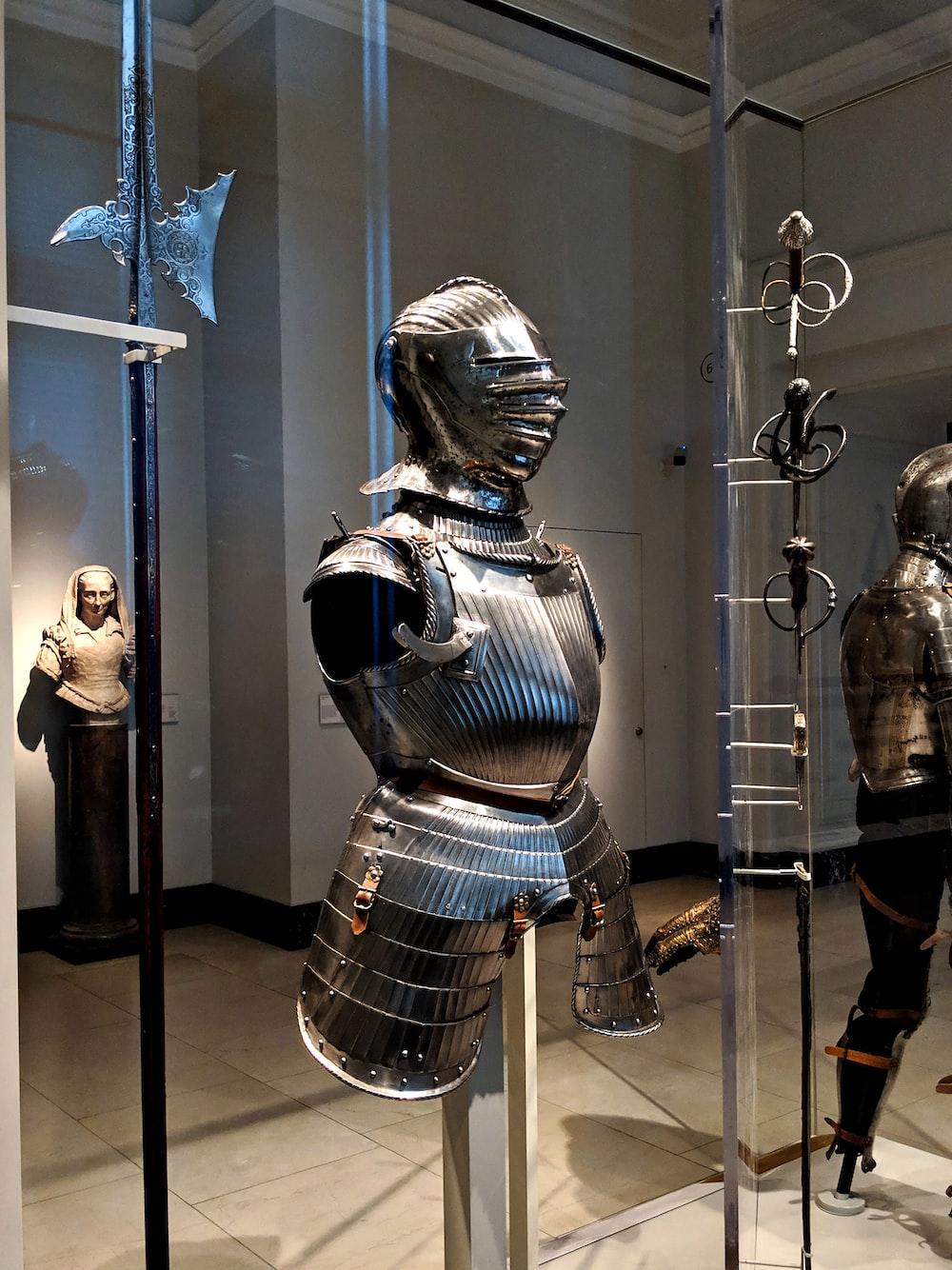 gray plate armor decor