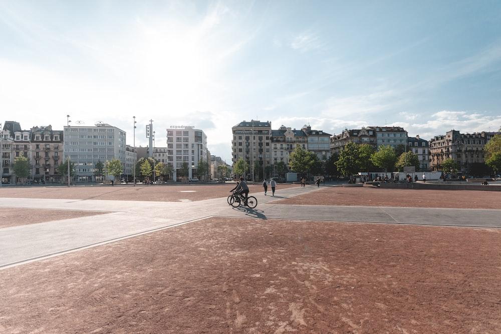 person riding city bike