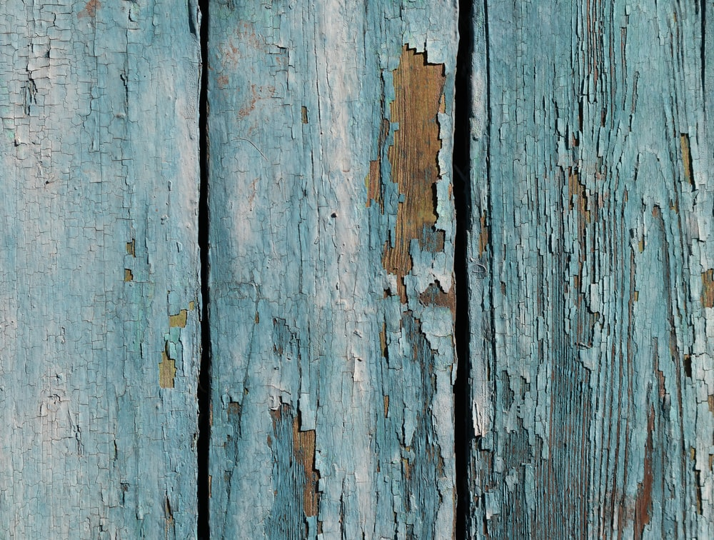 blue painted wooden board