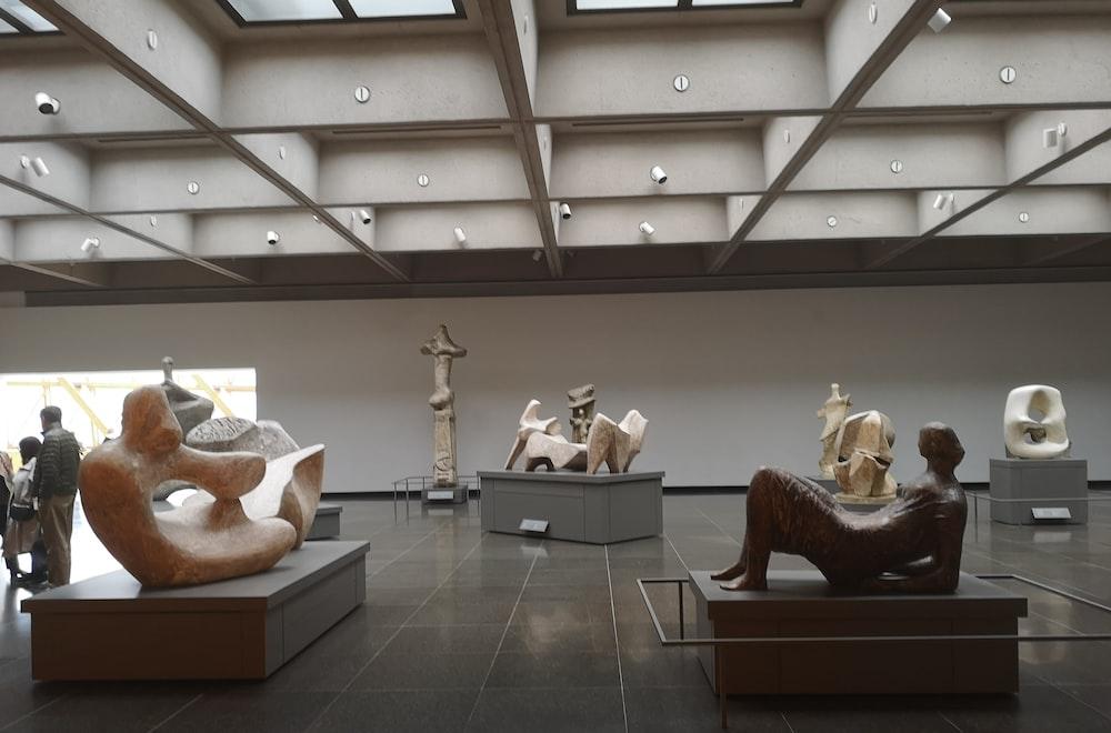 human statues inside building