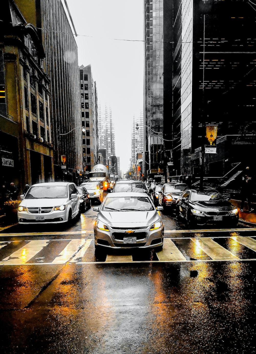 urban photo of cars in traffic