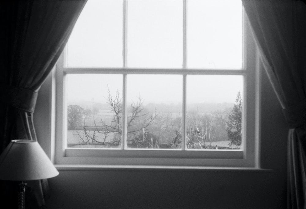 closed white framed glass window