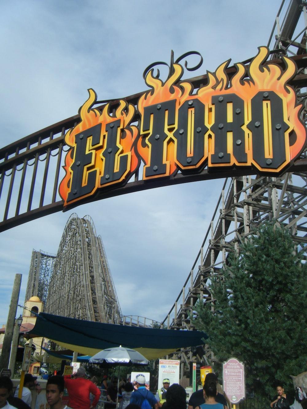 black and yellow flame El Toro signage