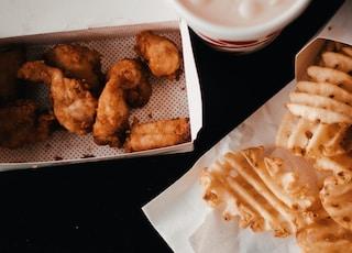 fried chicken on box