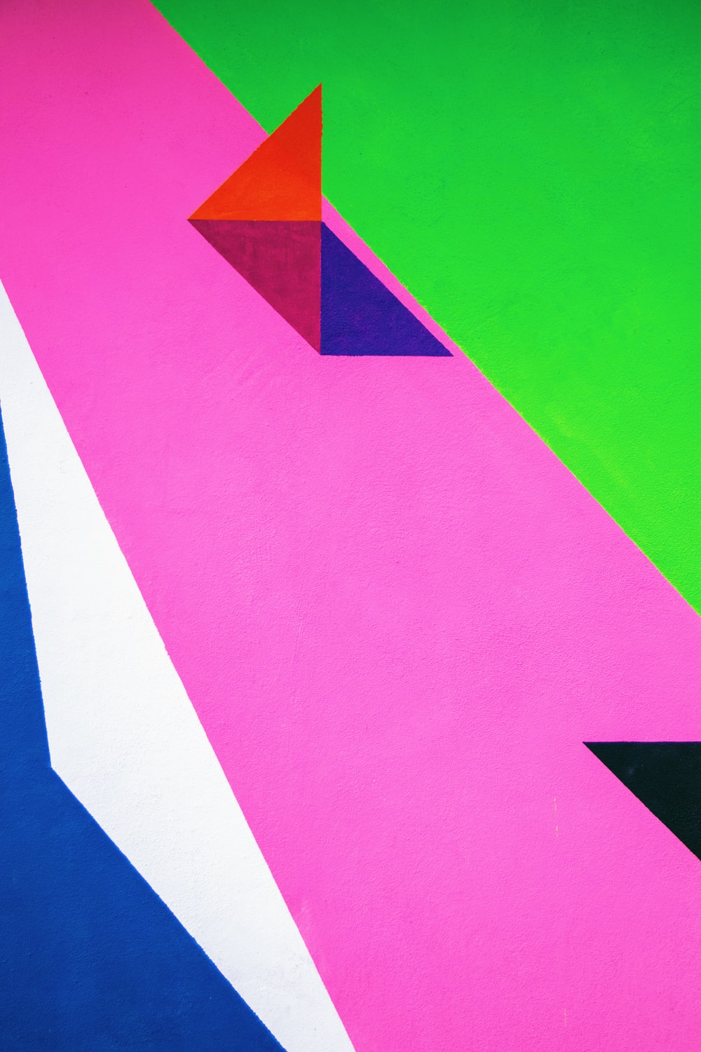 pink and multicolored abstract art