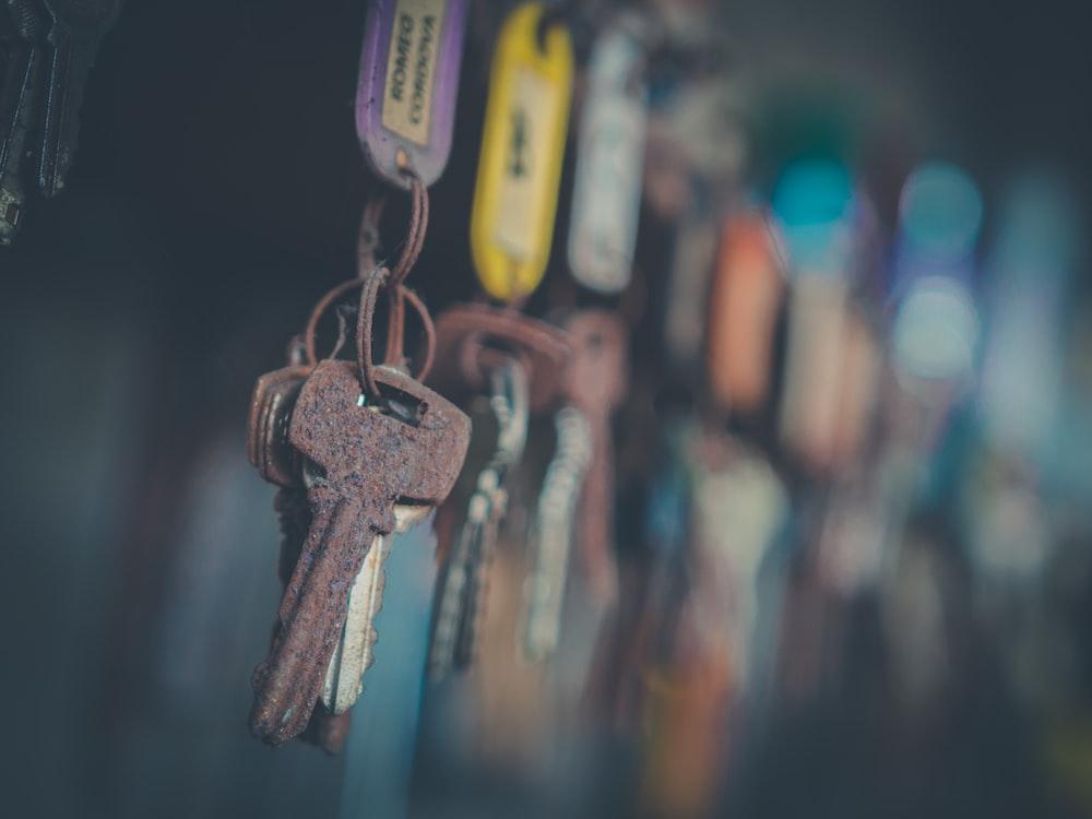 brown key