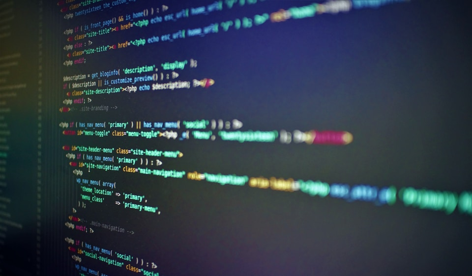 Screenshoot of wordpresss code